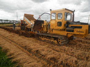 農業基盤整備促進事業 当別地区 暗渠排水工事