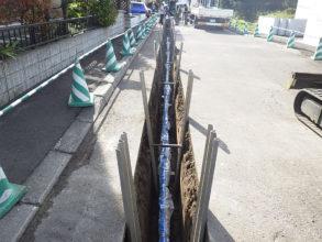 白石区川下地区配水管更新工事