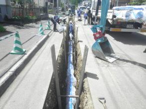南区川沿地区配水管整備工事